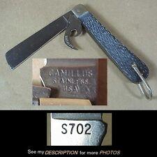 Vintage Camillus Rope Sailing Pocket Knife & Opener S 702 Folding Pocket Knife