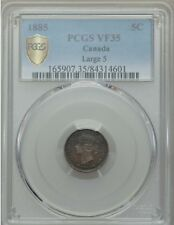 1885 Canada 5 Cents, Large 5, PCGS VF 35
