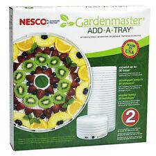 2 ADD A TRAY NESCO American Harvest FD1018 Trays ELECTRIC FOOD Dehydrator RACKS