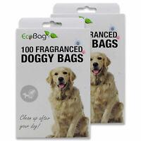 Eco Bag Large Fragranced Doggy Bags Dog Poo Bags Waste Tie Handles Dispenser 100