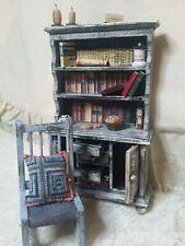 Fortune teller. Miniature Spells. Books. Hutch. Lot. Dollhouse. Accessories