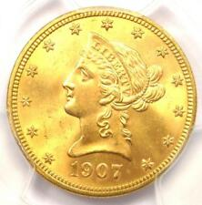 1907 Liberty Gold Eagle ($10 Coin) - Certified PCGS MS65 - $5,250 Value!