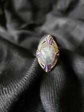 Sterling Silver Labradorite Filigree Ring, Size 8