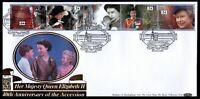 1992 QE II Accession FDC Buckingham Palace SHS Benham 22 Carat Gold