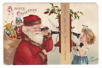 1908 ALTOONA PA CLAPSADDLE MERRY CHRISTMAS VINTAGE POSTCARD PENNSYLVANIA LEONARD