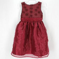 Cherokee Dress Sz 4 Red Maroon Sleeveless Holiday Special Occasion