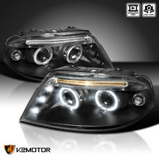 For 2001-2005 VW Passat LED+Halo Projector Headlights Black