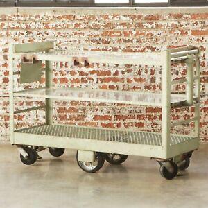 ABC TV Studios Vintage '40s Industrial Metal Rolling Cart Bar Table on Wheels