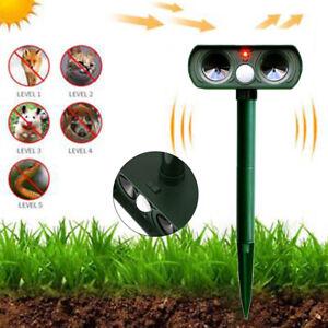 Ultraschall Solar Tiervertreiber Vogelabwehr Vogelschreck Repeller Gartenschutz