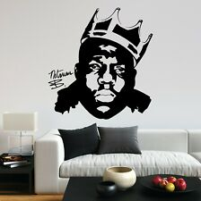 Notorious BIG Biggie Smalls Crown King Rap UK Fun Decal Wall Art Sticker Home