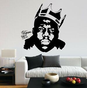 Notorious BIG Biggie Smalls Crown King Rap UK Fun Decal Wall Art Sticker Home