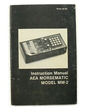 Vintage - AEA Morsematic MM-2 Instruction Manual 1982 - FREE SHIPPING