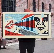 Your Ad Here Obey Giant Shepard Fairey  Golden Future Art Print Wrong Path