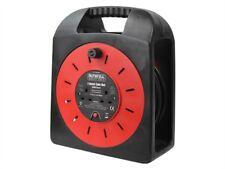 Fácil De Carrete De Cable Rollo De 50 Metros De 13 Amp con 2 sockets 240 Voltios-fppcr50mer