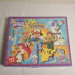Vintage Pokemon 60 Pcs MB Puzzle Gotta Catch 'Em All Hasbro 1999 Ash