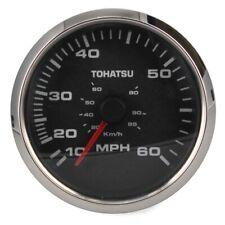 Faria Boat Speedometer Gauge SE9297A | Tohatsu 3 1/4 Inch Silver Black