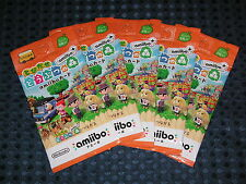 NEW Nintendo amiibo+ PLUS Animal Crossing Card 5 PACK set not BOX JAPAN 3DS F/S
