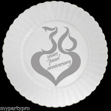 30th ANNIVERSARY MOD PLASTIC DESSERT PLATES Party Supplies FREE SHIPPING