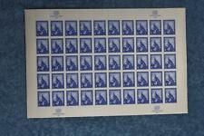 1958 Central Hall Full Sheet - N61 - MNH