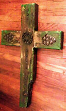 Large Rugged Wooden Cross Wall Hanging Crucifix Made in Mexico