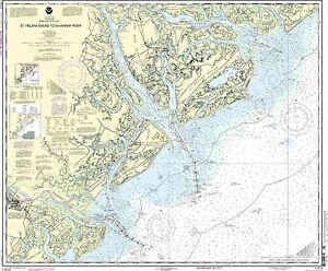 NOAA Chart St. Helena Sound to Savannah River 27th Edition 11513