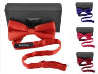 "Men's Pre-tied Bow Tie - 4.5"" by 2.5"" Tuxedo Bowtie w/ Gift Box by Moda Di Raza"