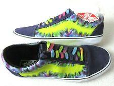 Vans Mens Old Skool Tie Dye Mysterio Canvas Suede Skate Casual shoes Size 10 NWT