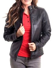 TESLA Motors Rare Leather Women's Jacket Size Medium Black Retail $400