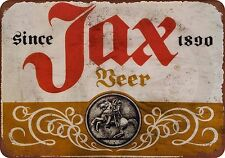 Jax Beer Vintage Look Reproduction Metal Sign 8 x 12