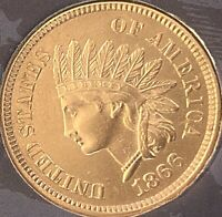 1866'INDIAN HEAD PENNY ALMOST 4 DIAMONDS ***BEAUTIFUL COIN***KEY DATE***Cleaned