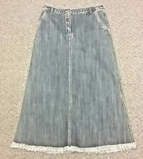 Charter Club Long Denim Jean Skirt Navy Cotton 6