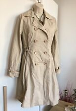 Dickins & Jones mac 10 Liberty Cotton Double Breasted Trench Coat Beige Lined