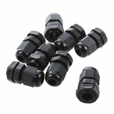 5 Pcs PG9 Black Plastic Waterproof Cable Glands Connectors JI Y6X7