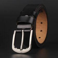 "Men's Belt 100% Genuine Leather Big Size Waist 30-62"" Super Long Length100-160cm"