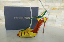 Sergio Rossi Gr 39,5 Sandaletten sandals Schuhe Shoes multicolor neu UVP 590 €