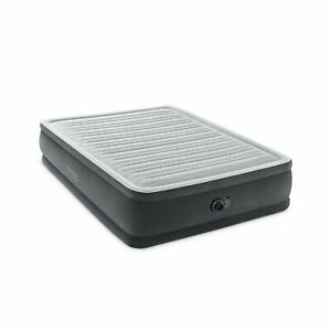 Intex 64413ED Elevated Dura Beam Fiber Tech Airbed with Built in Pump, Queen