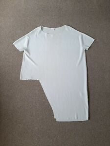Cos Woman Ivory Knited Tunic Top Asymetric Size L Stretchy
