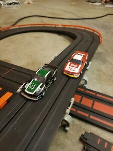 aurora Camaro challenge working with extra track and guard rails.