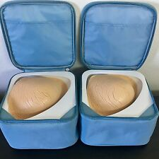 Pair of Amoena Breast Forms 442 Size 7 8 Mastectomy Replacement Triangle
