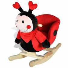 vidaXL Rocking Animal Ladybug Kids/Toddler Ride On Toy Plush/Wood Rocker Chair