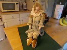 LATE 1800S EARLY 1900S BISQUE HEAD DOLL WITH SLEEP EYES MARKED DEP 139 8 1/2