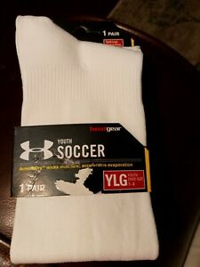 Under Armour Soccer Over The Calf Socks 1 Pair Youth White