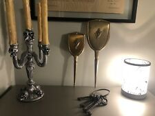 24 Karot Gold Plated Vanity Brush And Mirror Vintage Free Shipping