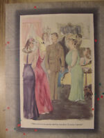 1944 Original Esquire Art WWII Era Lot of CARTOONS!