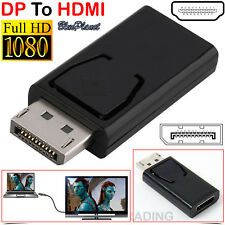 Display Port DP Male to HDMI Female Converter Adaptor For HDTV PC Laptop 4K