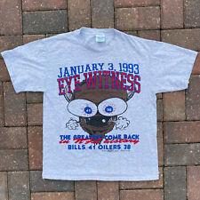 Vintage Buffalo Bills Cartoon Greatest Comeback Medium 1990s NFL Fanimation