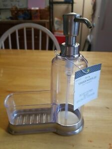 InterDesign Carson Pump Caddy with Sponge Holder, Clear