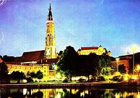 Landshut an der Isar , Blick zur St. Martinskirche, Ansichtskarte ,1978 gelaufen