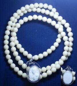 Necklace Holy Rosary 108 Beads + Emperor Buddha Pendant Luang Ta Ma Thai Amulet