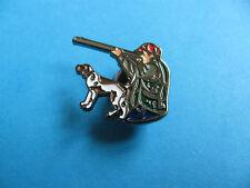 New Hunter & Dog pin badge. Hunting interest.